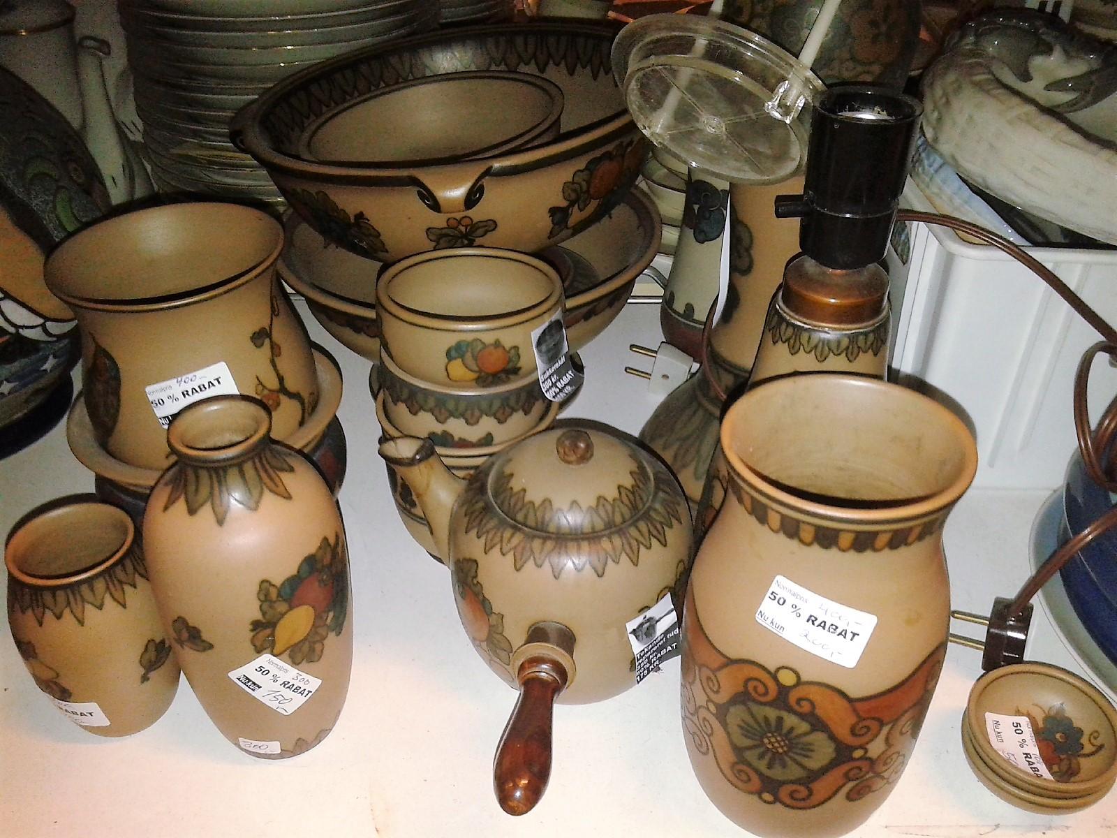 keramik l hjorth KERAMIK Hjorth, STENTØJ POTTERY CERAMICS BORNHOLM KØBENHAVN DANMAR  keramik l hjorth