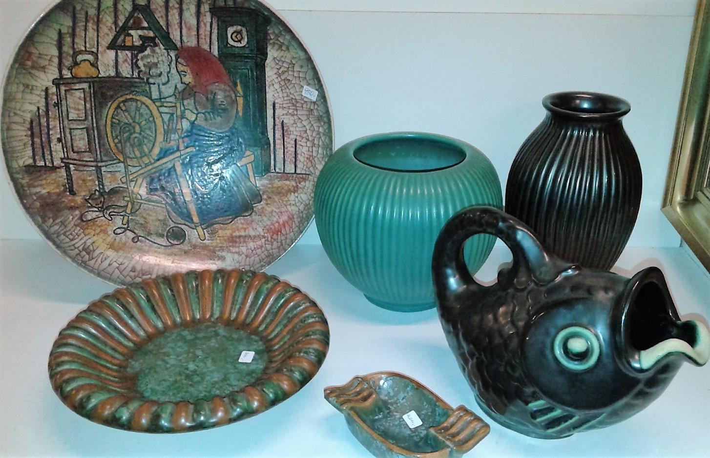 keramik bornholm MICHAEL ANDERSEN & søn OG JOHGUS KERAMIK POTTERY BORNHOLM DANMARK keramik bornholm