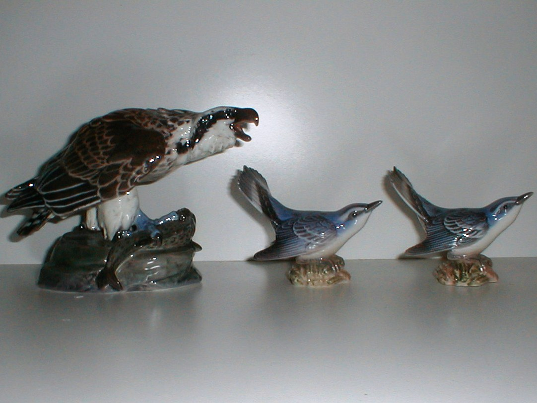 Fuglefigurer dansk porcelæn royal copenghagen bing grøndahl dahl