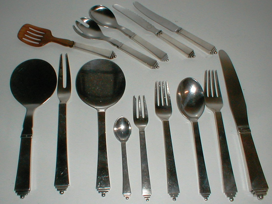 pyramide georg jensen silver s lv denmark cutlery sterling. Black Bedroom Furniture Sets. Home Design Ideas