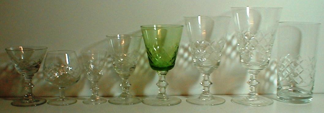 EATON GLAS LYNGBY GLASVÆRK DANMARK DENMARK GLASSES GLAT ANTIK