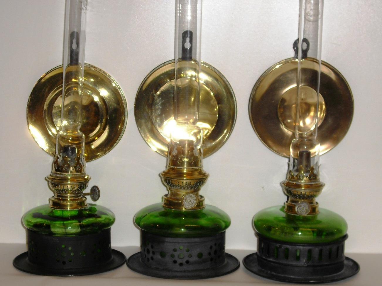 petroleumslamper i glas